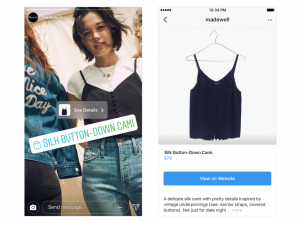 Shopping on Instagram stories